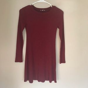 Charlotte Russe | Red Long Sleeve Dress
